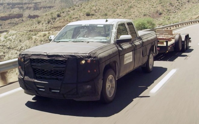 2014 Chevrolet Silverado Teaser With Trailer Front View1 660x413