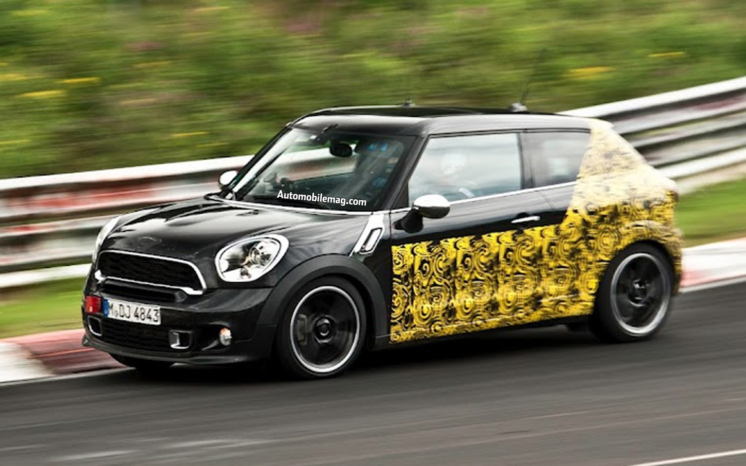 caught mini cooper s paceman spied testing at the nurburgring. Black Bedroom Furniture Sets. Home Design Ideas
