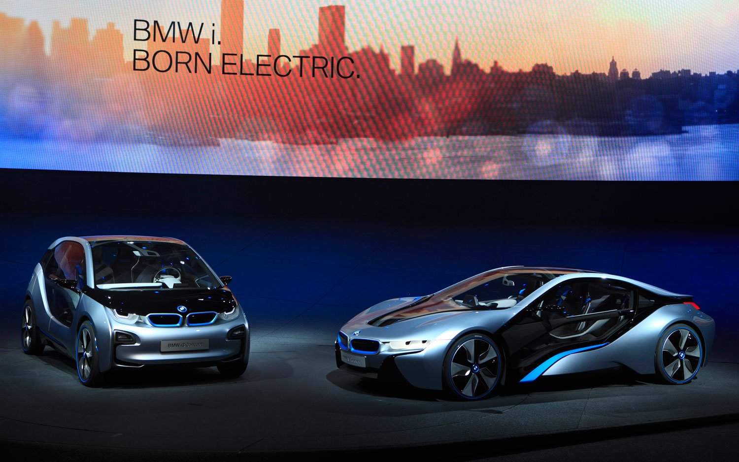 BMW I3 And I8 Concepts On Stage1