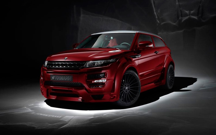 Hamann Range Rover Evoque Front Three Quarter Red1