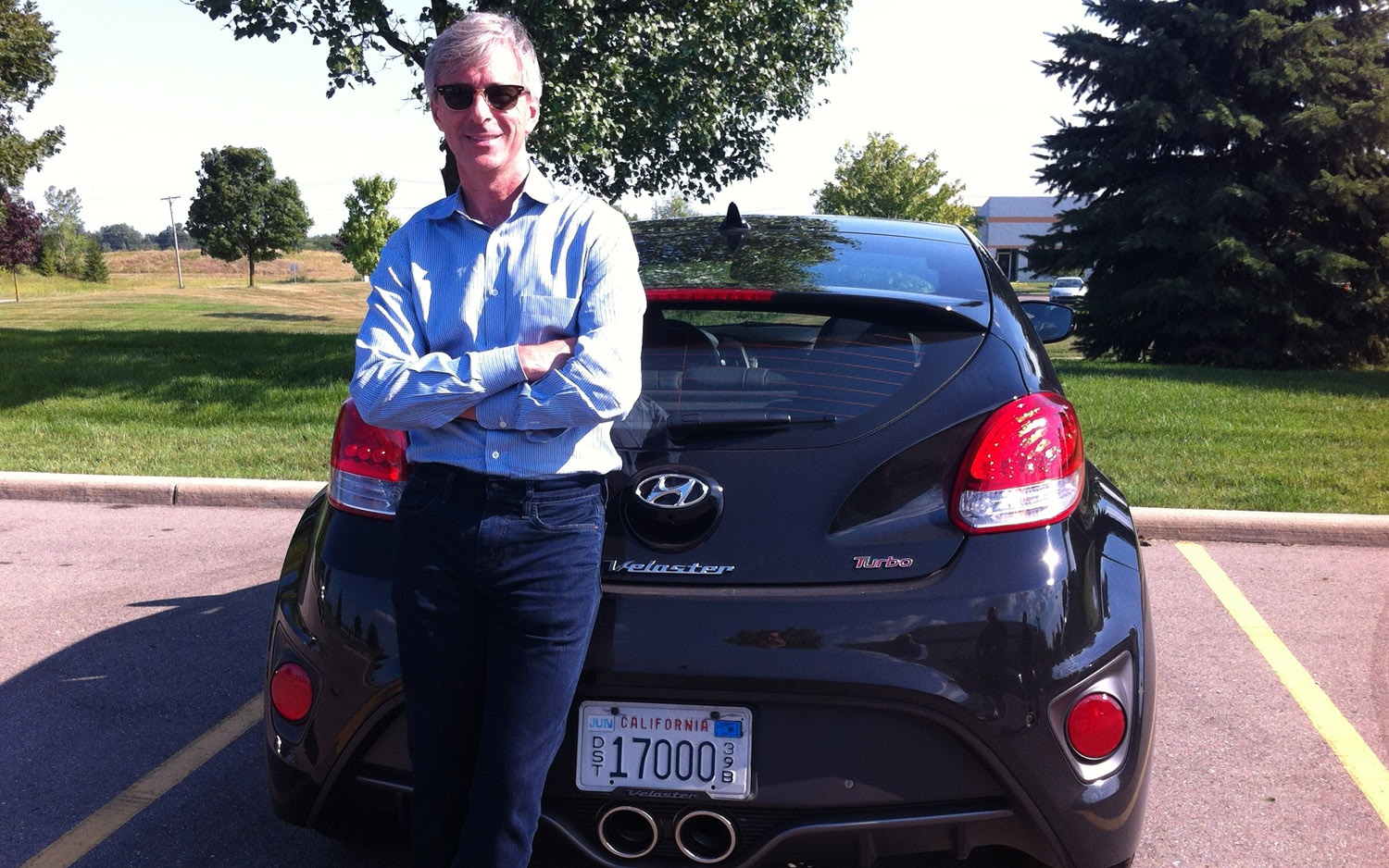 Hyundai CEO John Krafcik And Veloster Turbo1