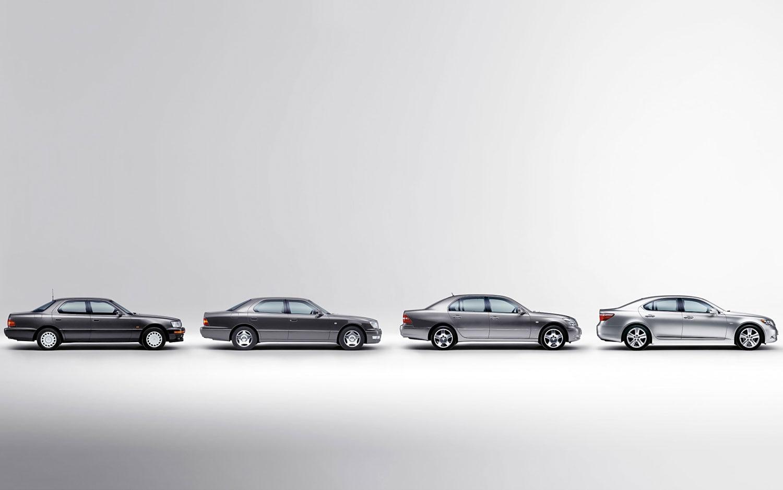 Lexus LS Generations Lineup1