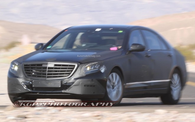 Mercedes Benz S Class Spied Front 31 660x413