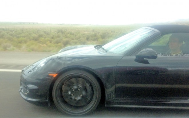 Porsche 911 Turbo Cabriolet 991 Side Spied AMAG 660x413