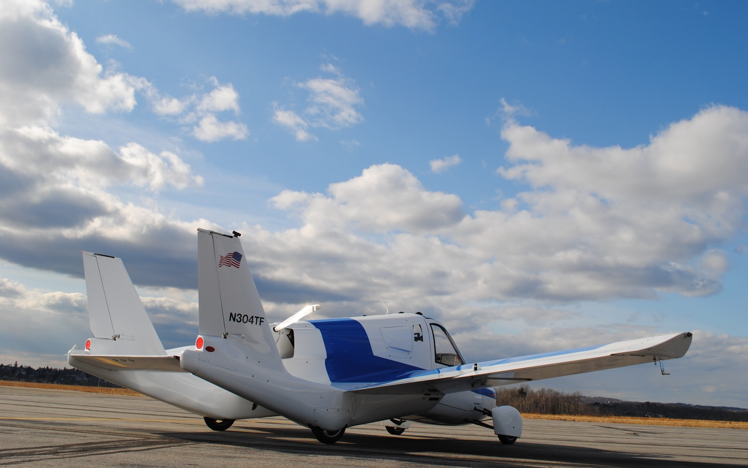 Terrafugia Transition Plane Mode Rear Three Quarter1