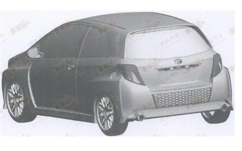 Toyota Yaris Rendering Rear Three Quarter1