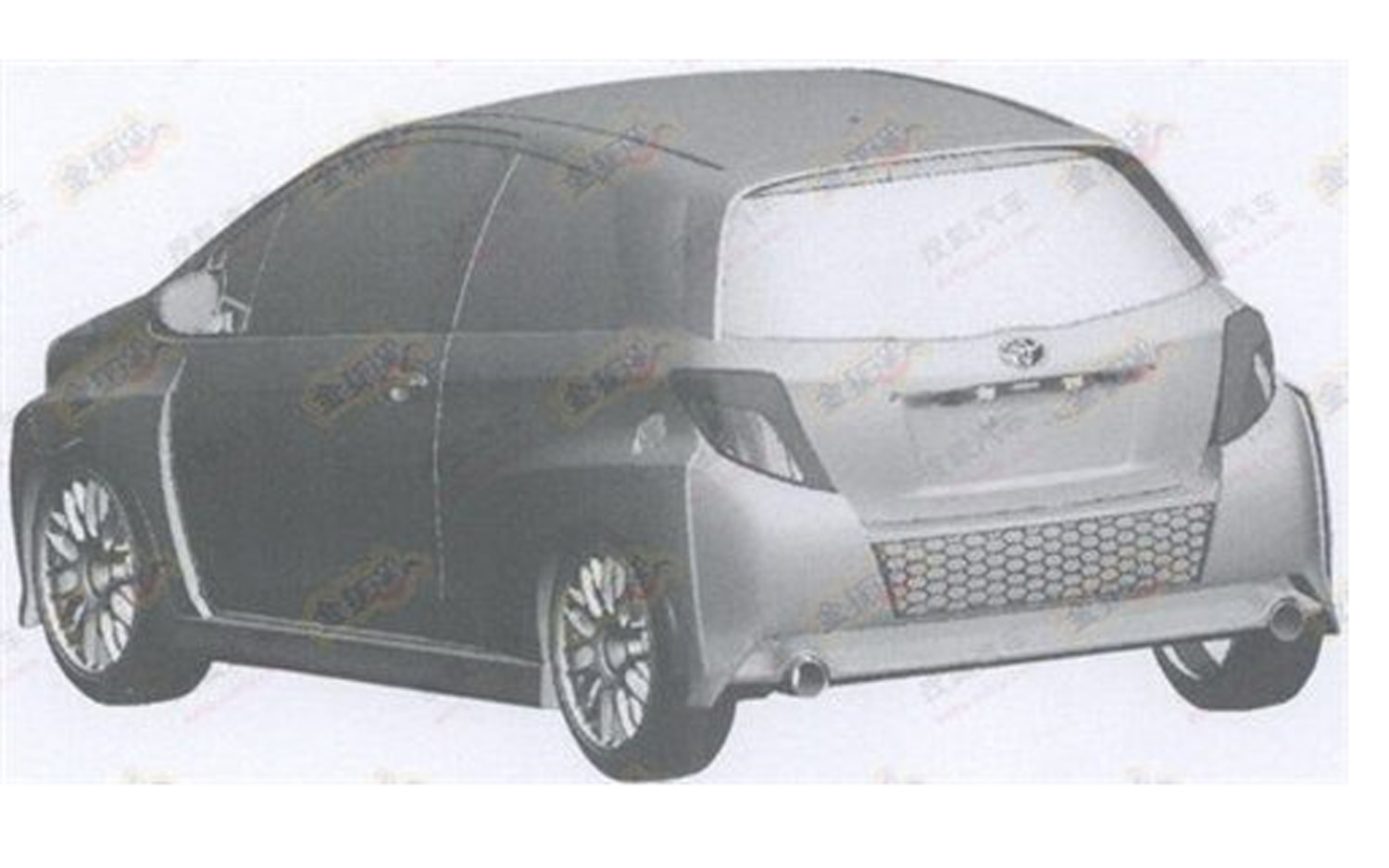 Toyota Yaris Rendering Rear Three Quarter1