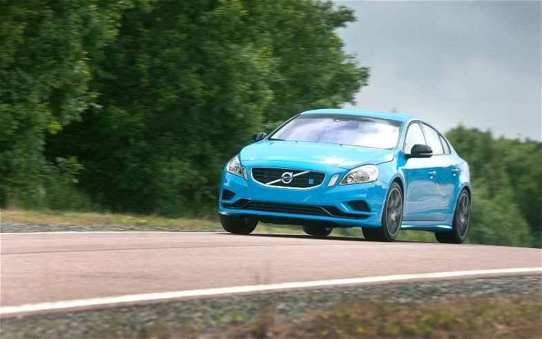 Volvo S60 Polestar Front Three Quarter View In Motion1