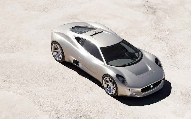 Jaguar C X75 Concept Top Front View1