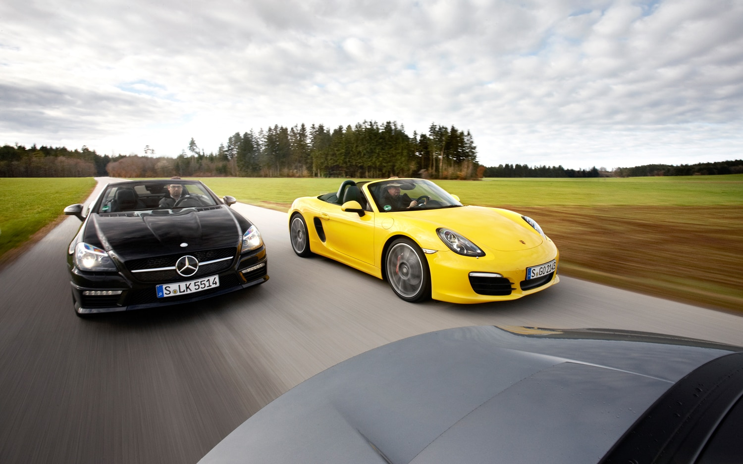 Roadster Roundup Porsche Boxster S Vs Mercedes Benz
