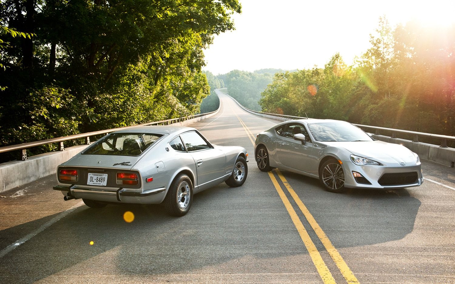 1971 Datsun 240Z And 2013 Scion FR S Parked1