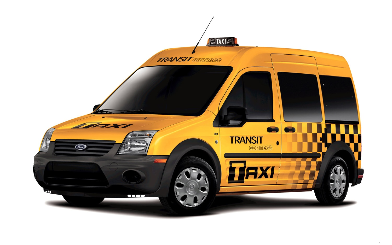 2011 Ford Transit Connect Front Three Quarter Taxi1