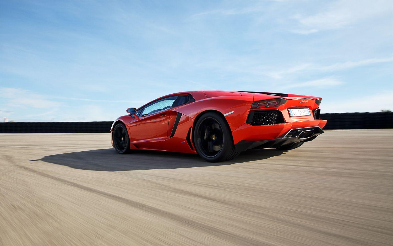 2012 Lamborghini Aventador LP 700 4 Rear Angle Driving1