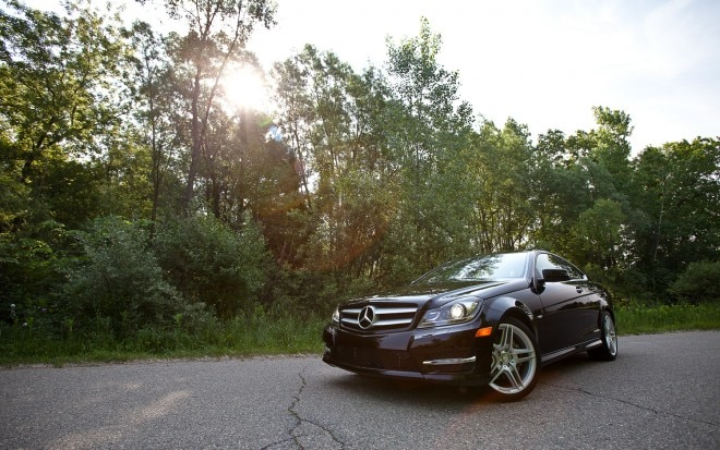 2012 Mercedes Benz C350 4MATIC Coupe Front Left View1 660x413