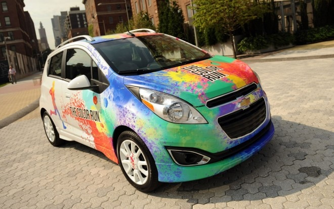 2013 Chevrolet Spark With Color Run Paint Scheme Front Three Quarter View 021 660x413
