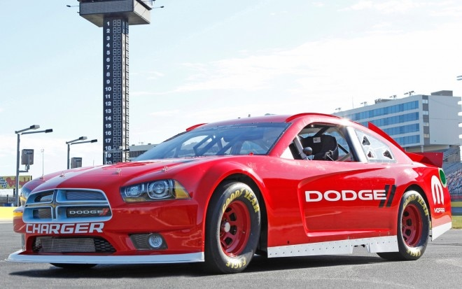 2013 Dodge Charger NASCAR Sprint Cup Car Front Three Quarters View1 660x413