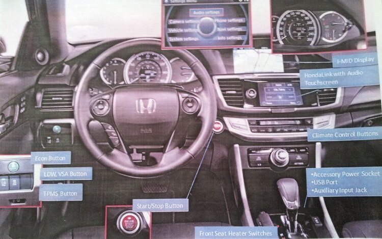 2013 Honda Accord Interior Brochure Leak1