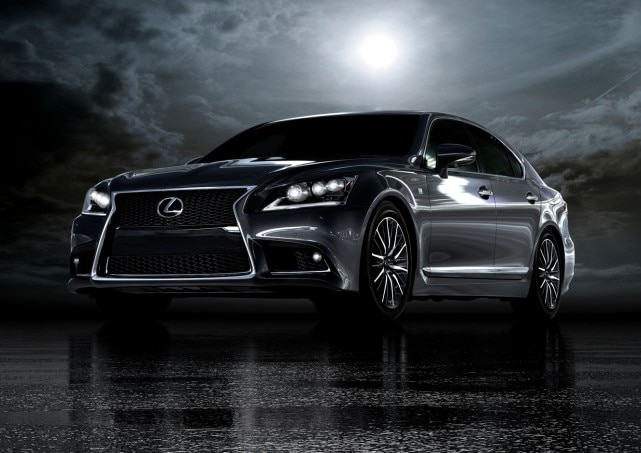 2013 Lexus LS 460 F Sport Front Three Quarter Dark 641x453