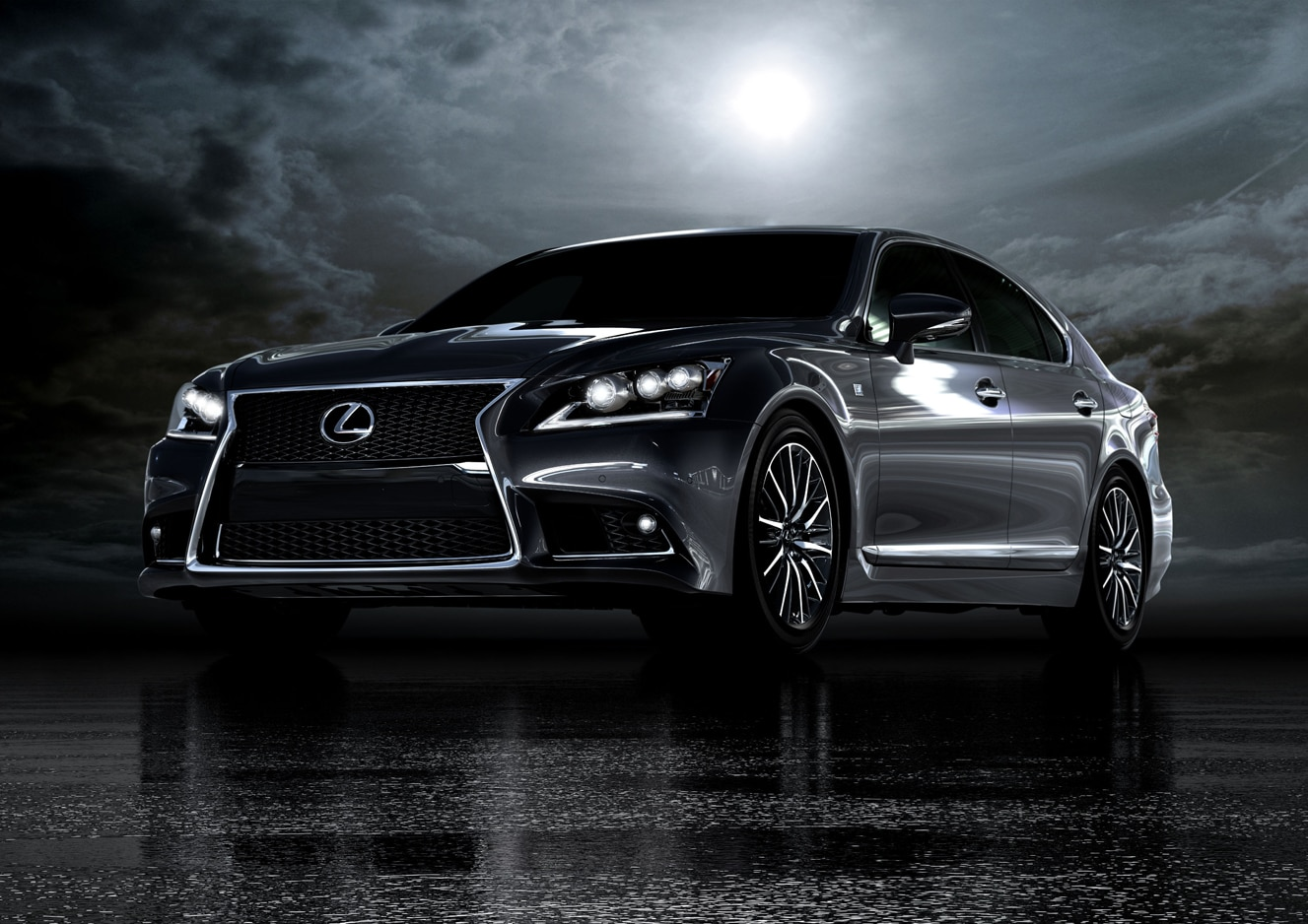 2013 Lexus LS 460 F Sport Front Three Quarter Dark