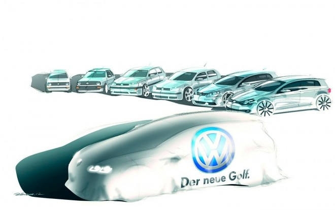2014 Volkswagen Golf Artist Preview Sketch1 660x413