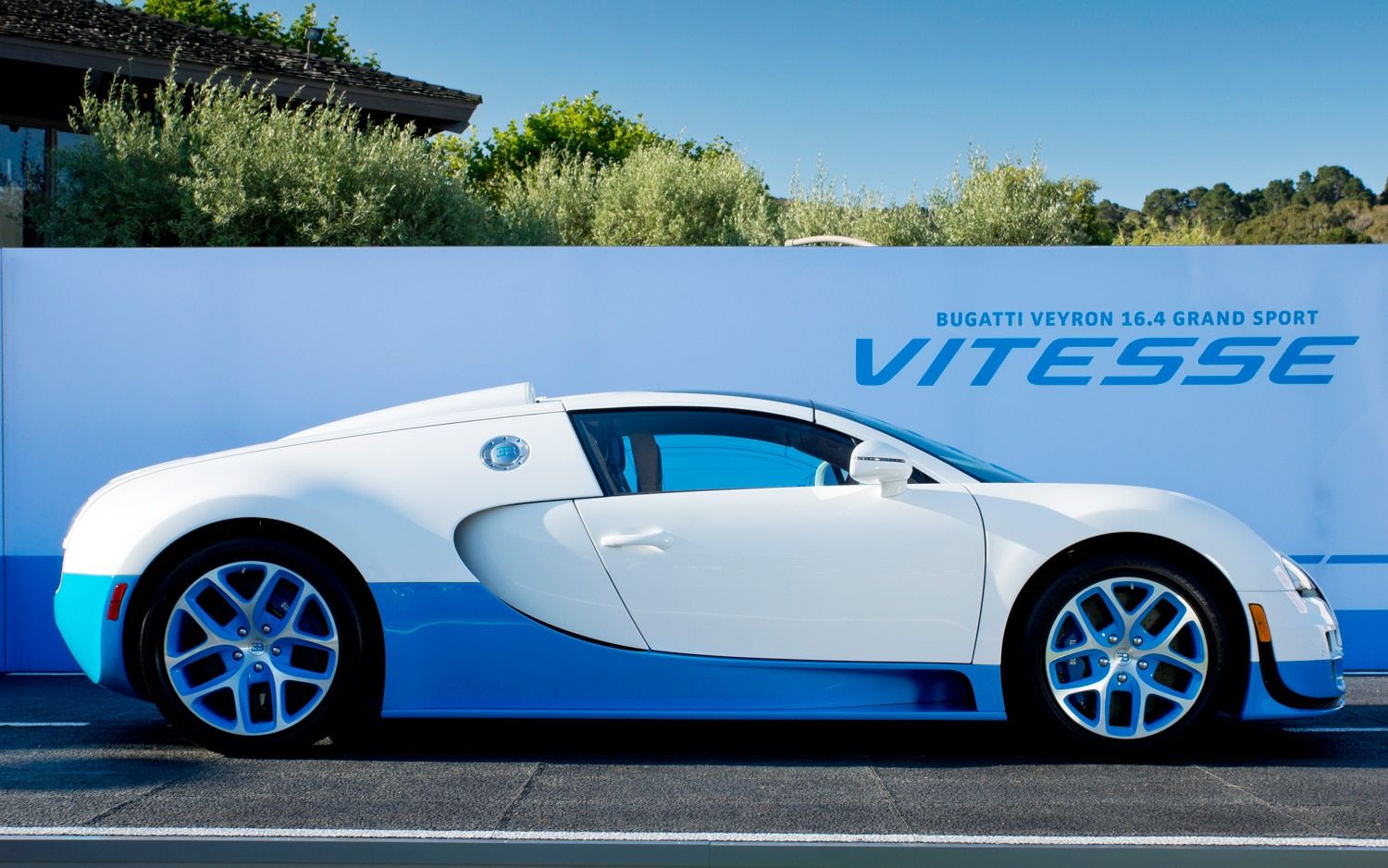bugatti reveals special edition veyron grand sport vitesse in monterey. Black Bedroom Furniture Sets. Home Design Ideas