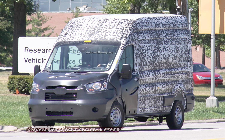 spied ford 39 s american market transit cargo van. Black Bedroom Furniture Sets. Home Design Ideas