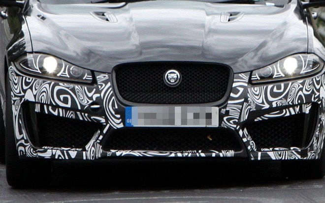 Jaguar XFR S Spy Shot 660x413