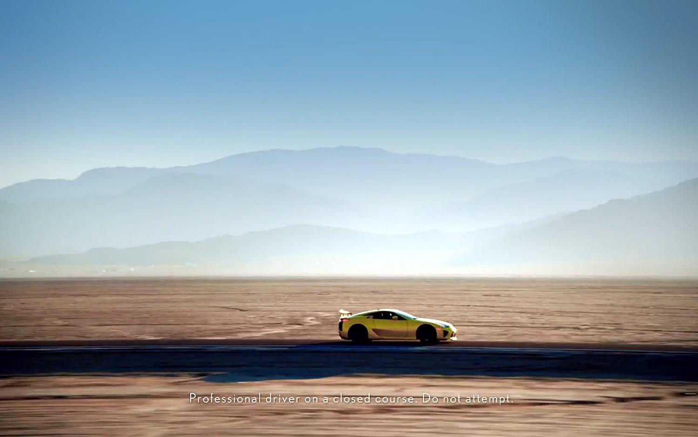 Lexus LFA Profile Desert1
