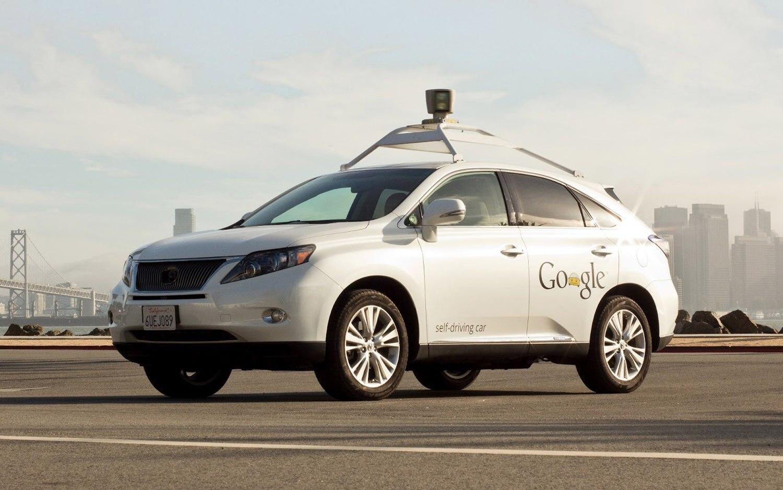 Lexus RX450h Google Autonomous Front Three Quarter1