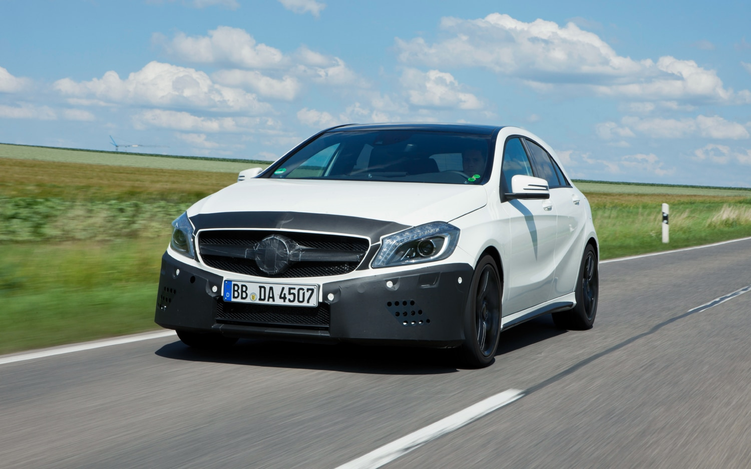 Mercedes Benz A45 AMG Prototype Front Left View1