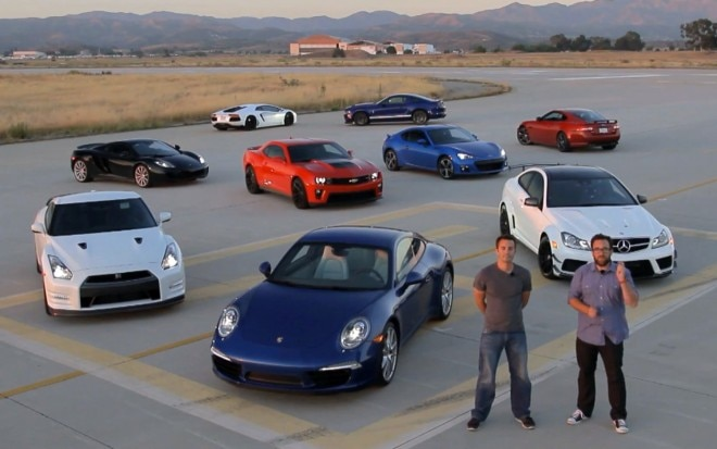 Motor Trend 2012 Best Drivers Car Lineup 660x413