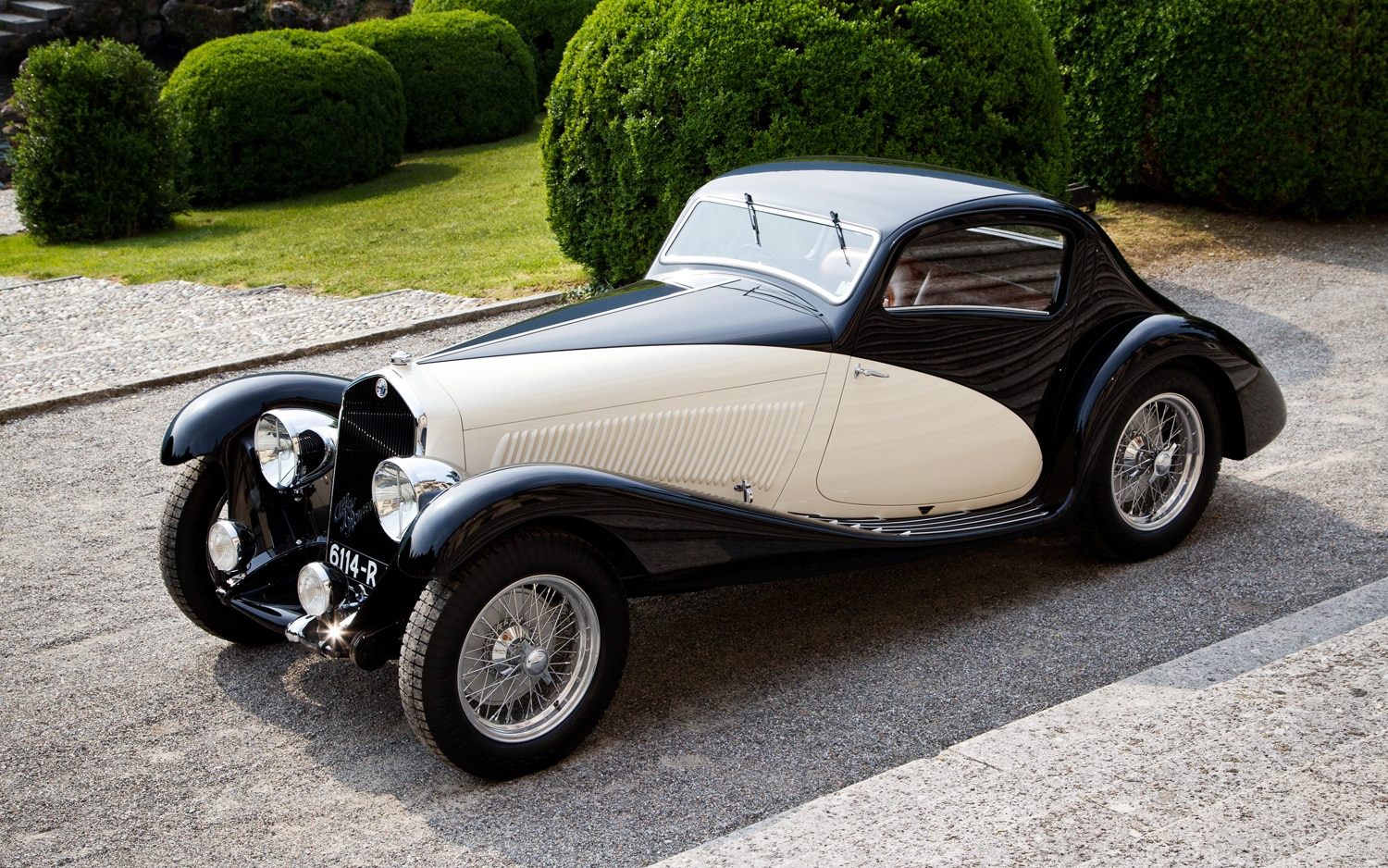 1933 Alfa Romeo 6C 1750 Figoni Coupe Front Three Quarter1
