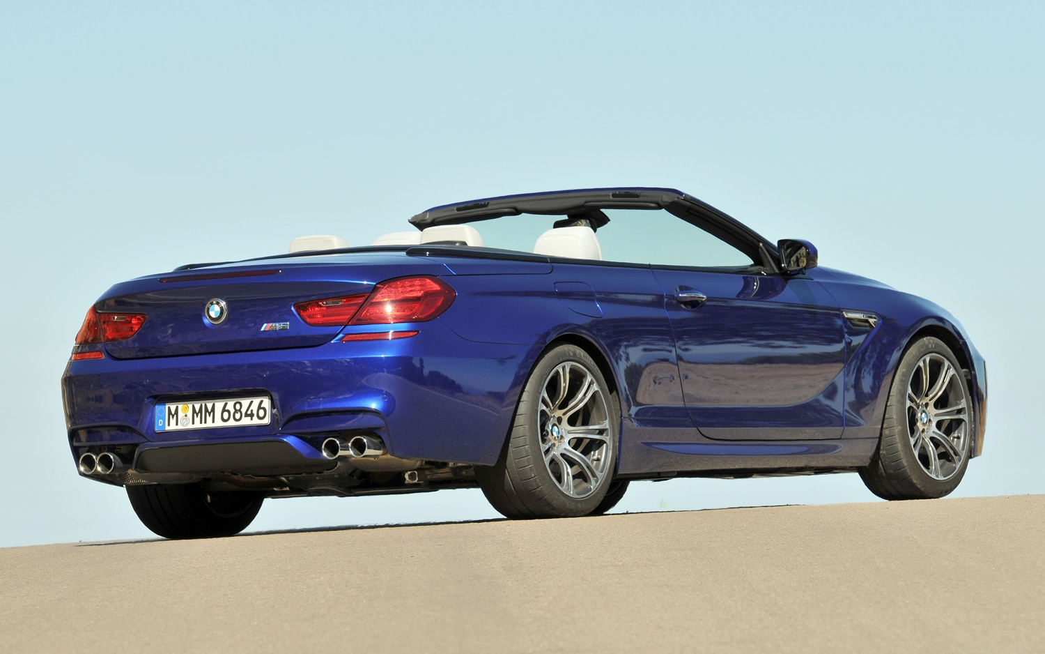 2012 BMW M6 Convertible Rear Three Quarter1