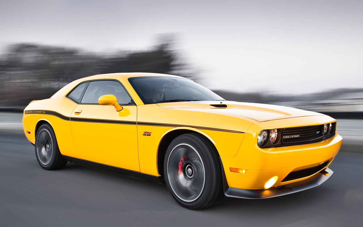 2012 Dodge Challenger SRT8 392 Yellow Jacket Front Three Quarter Motion1