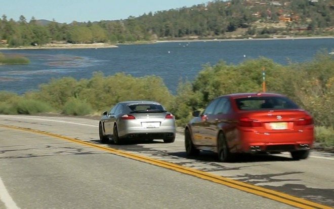 2013 BMW M5 And Porsche Panamera GTS Rear By Big Bear1 660x413
