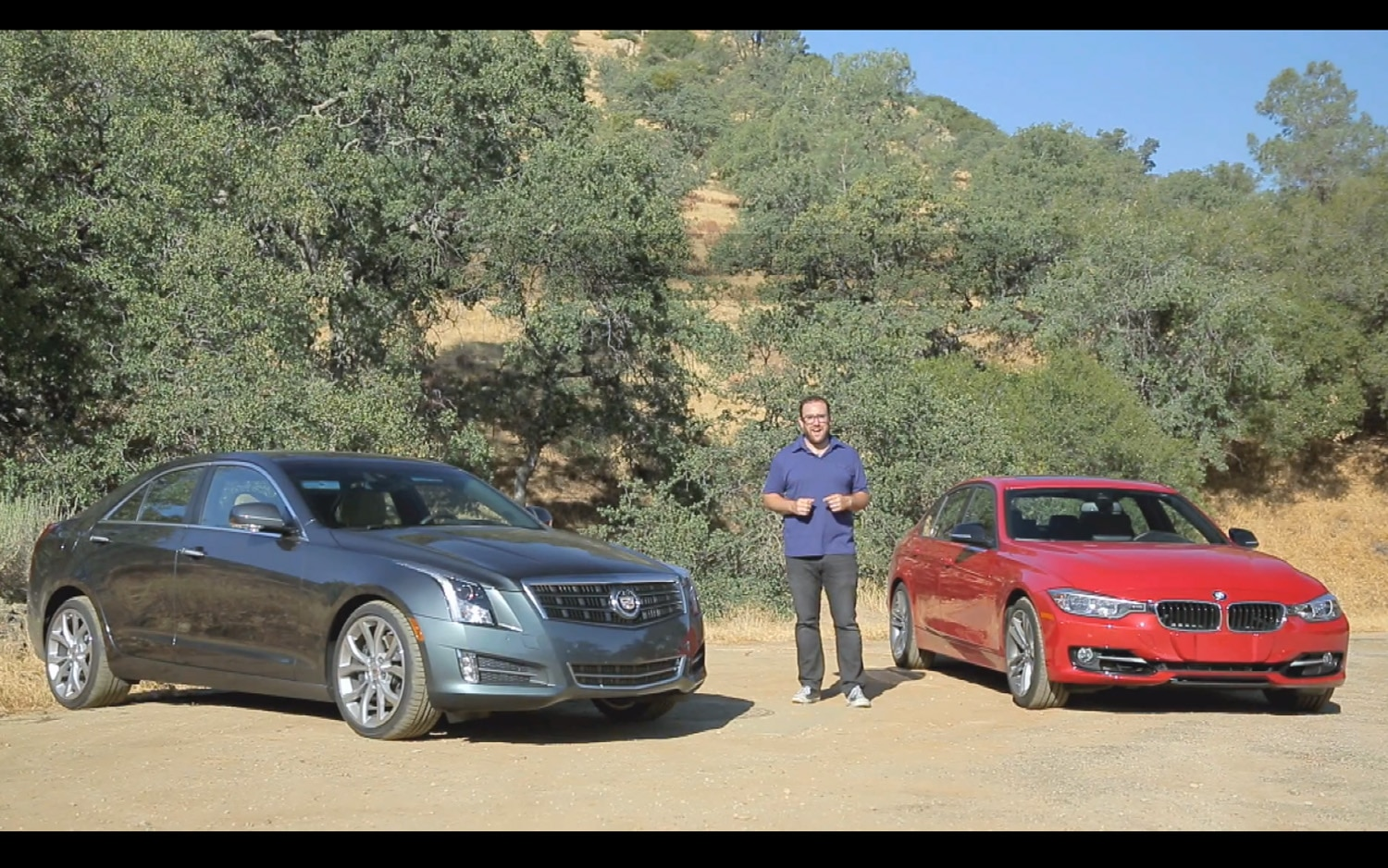 2013 Cadillac ATS And 2012 BMW 328i 2up Head To Head1