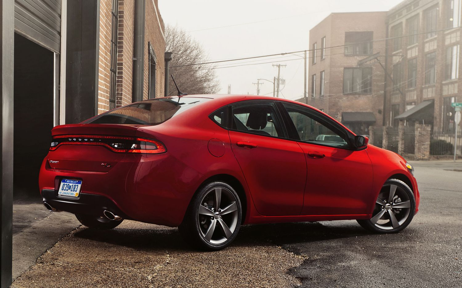 2013 Dodge Dart Rear Three Quarters1