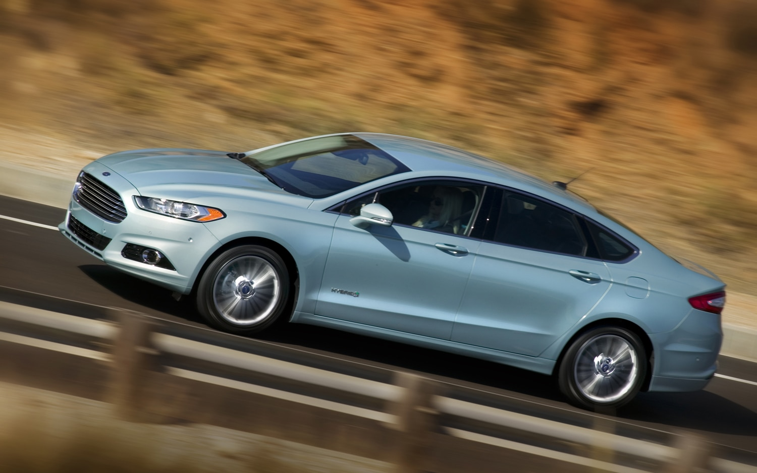 2013 Ford Fusion Hybrid Profile In Motion