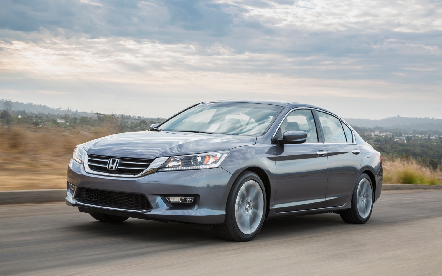 2013 Honda Accord Sport Sedan Front Three Quarters In Motion11