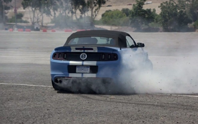 2013 Shelby GT500 Rear View Doing Donuts1 660x413