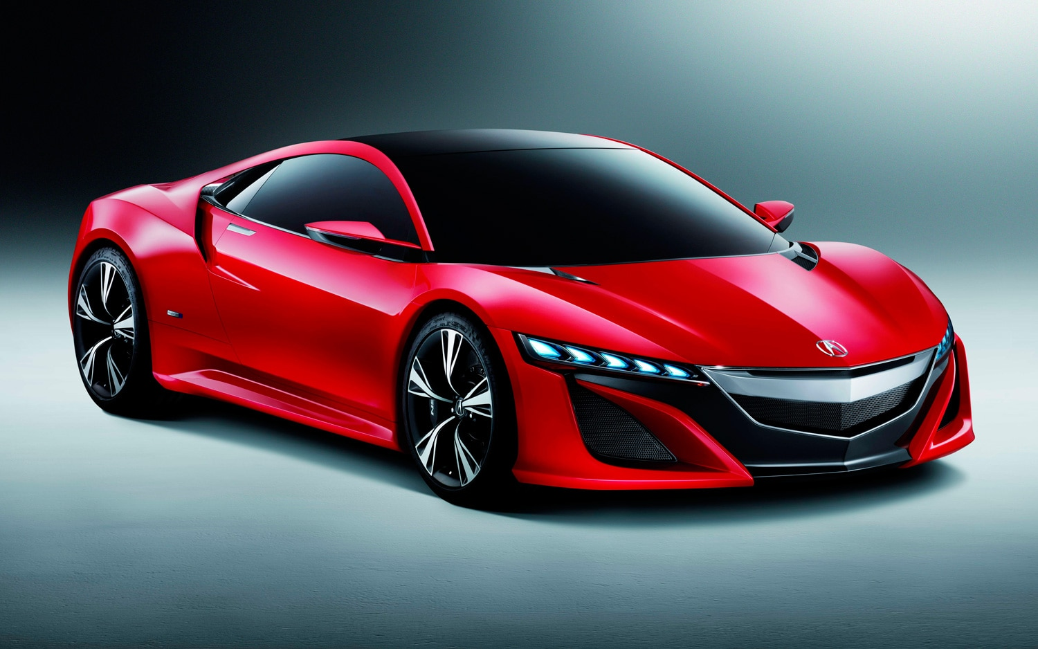 Acura NSX Concept Front View In Red1