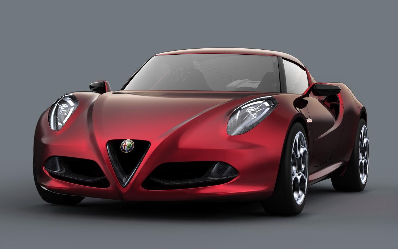 Alfa Romeo 4C Concept Red Front Three Quarter1