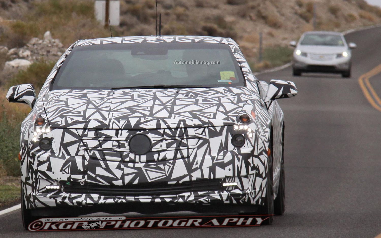 Cadillac ELR Spy Photo Front With Volt1