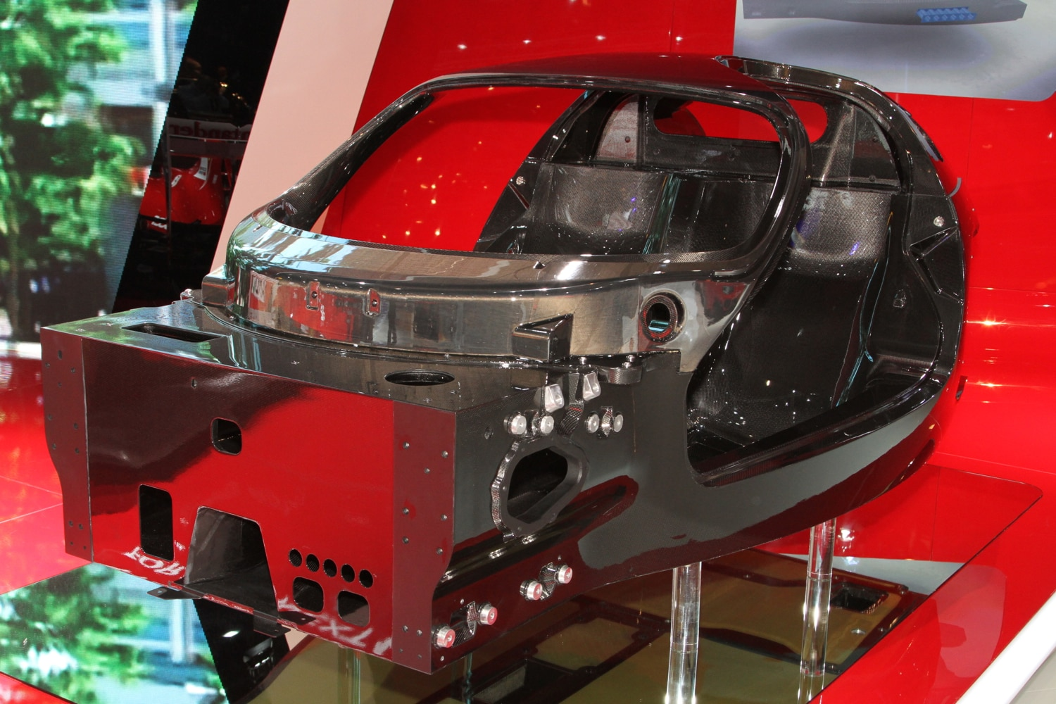Ferrari Supercar Carbon Monocoque Front View1
