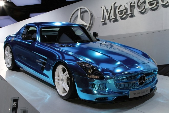 Mercedes Benz SLS AMG E Cell Front View1 660x440