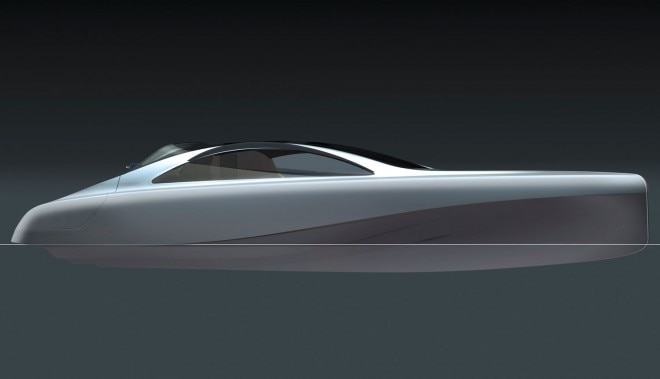 Mercedes Benz Designed Silver Arrow Of The Seas Yacht Side Sketch 021 660x379