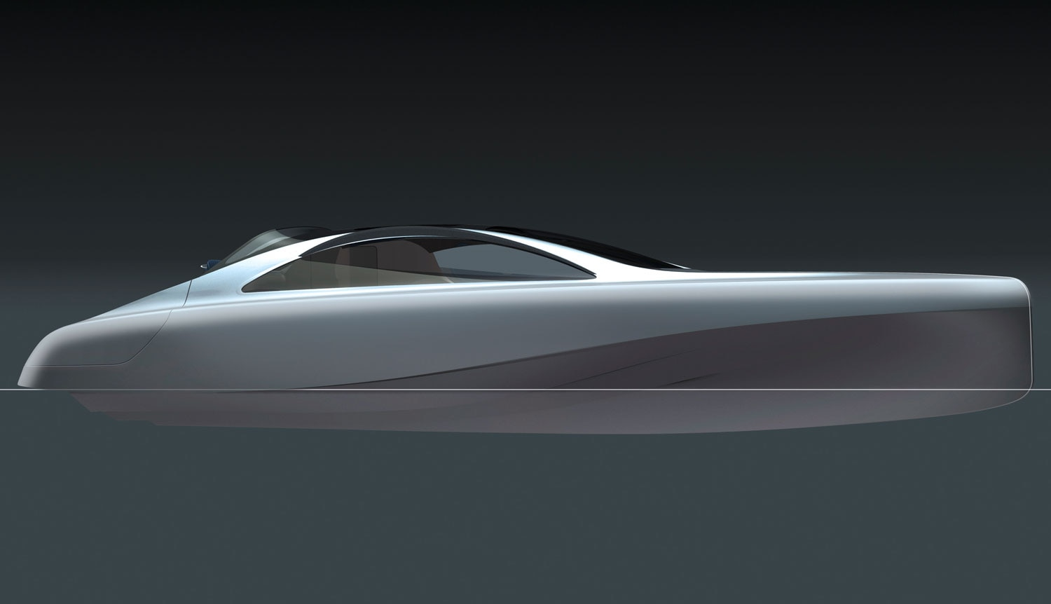 Mercedes Benz Designed Silver Arrow Of The Seas Yacht Side Sketch 021