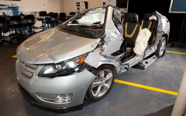 2011 Chevy Volt Crash1