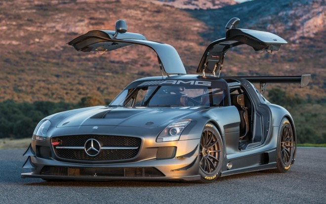 2012 Mercedes Benz SLS AMG GT3 45th Anniversary Edition Doors Open View1 660x413