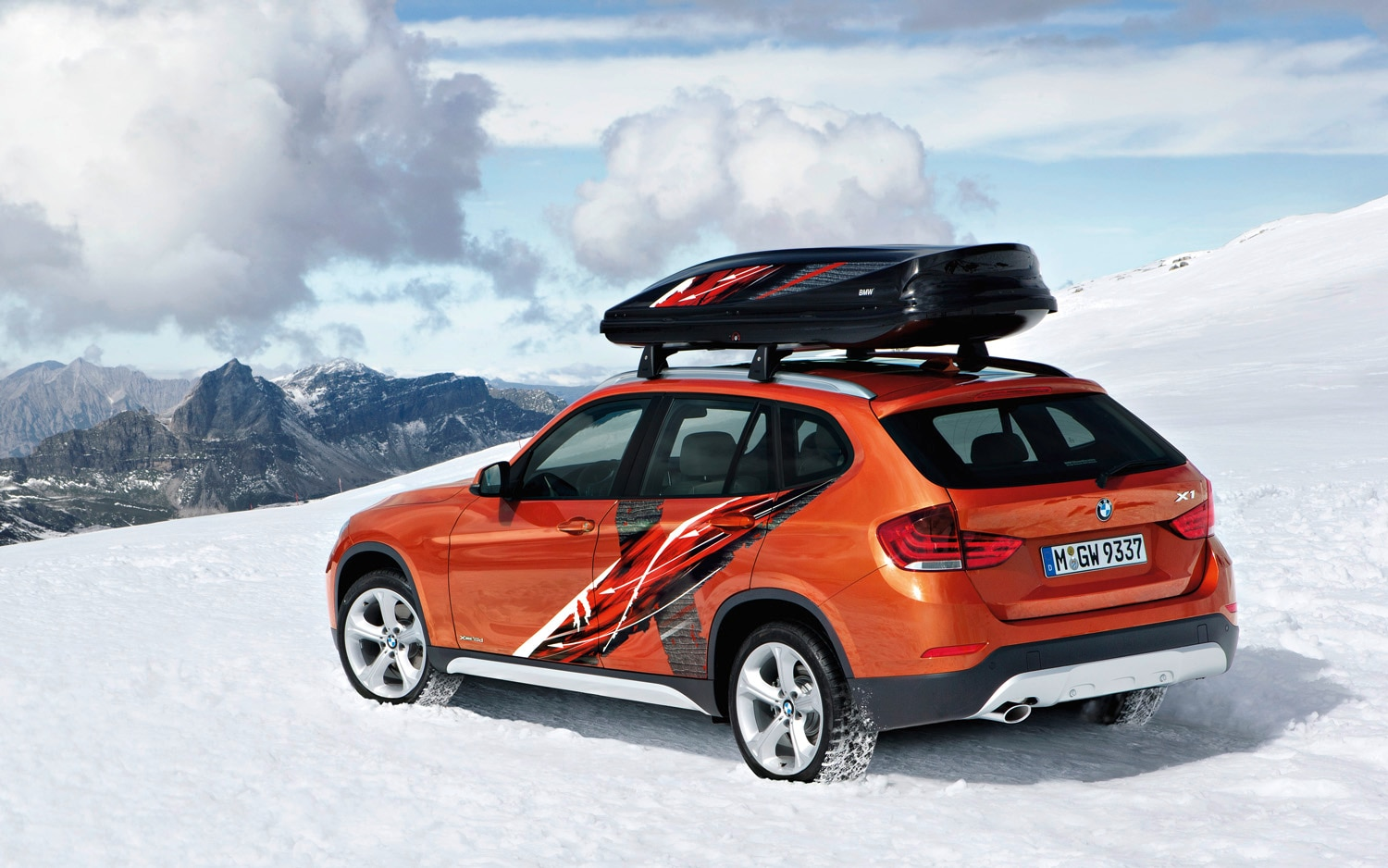 2013 BMW X1 Powder Ride Edition Rear Three Quarter Orange1